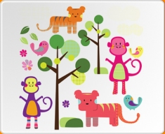 Jungle Animals Set Wall Sticker
