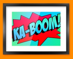 KA BOOM Comic SFX Framed Print