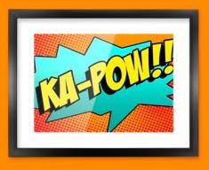 KA POW Comic SFX Framed Print