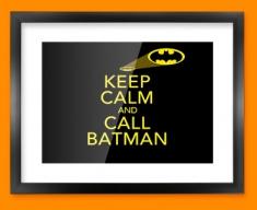 Keep Calm Call Batman Framed Print
