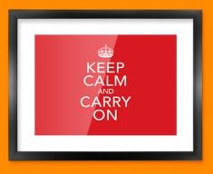 Keep Calm Carry On Framed Print