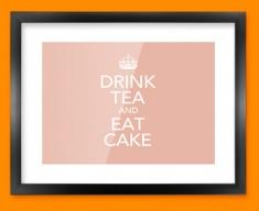 Keep Calm Drink Tea Framed Print