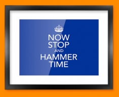 Keep Calm Hammer Time Framed Print