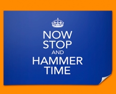 Keep Calm Hammer Time Poster