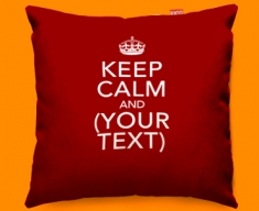 Keep Calm Personalised Funky Sofa Cushion 45x45cm