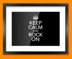 Keep Calm Rock On Framed Print
