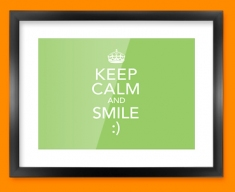 Keep Calm Smile Framed Print