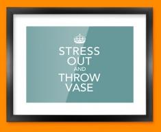 Keep Calm Throw Vase Framed Print