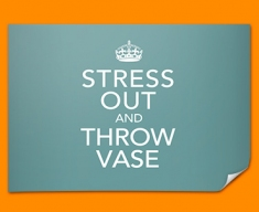 Keep Calm Throw Vase Poster
