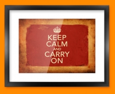 Keep Calm Vintage Carry On Framed Print