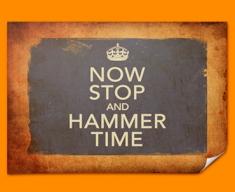 Keep Calm Vintage Hammer Time Poster