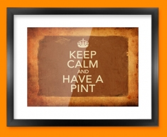 Keep Calm Vintage Have a Pint Framed Print