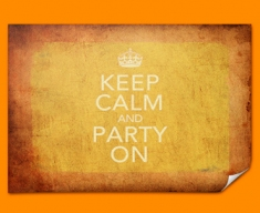 Keep Calm Vintage Party On Poster