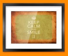Keep Calm Vintage Smile Framed Print