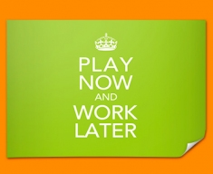 Keep Calm Work Later Poster