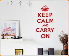 Keep Calm and Carry On Quote Wall Sticker