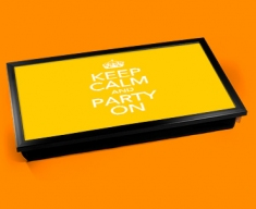 Party On Keep Calm Laptop Lap Tray