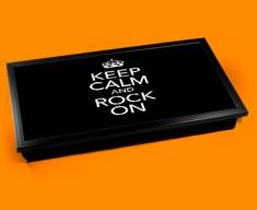 Rock On Keep Calm Laptop Lap Tray