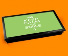 Keep Calm and Smile Laptop Lap Tray