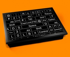 Keyboard Keys Black Cushion Lap Tray