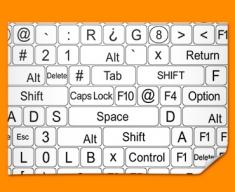 Keys White Poster