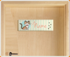 Kitty Personalised Name Children's Bedroom Door Sign