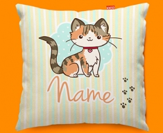 Kitty Personalised Childrens Name Sofa Cushion