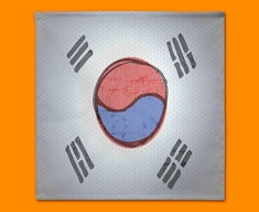 Korea Flag Napkins (Set of 4)