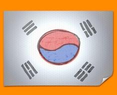 Korea Flag Poster