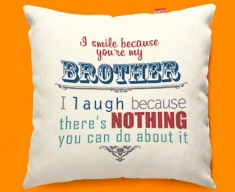 Brother Typography Funky Sofa Cushion