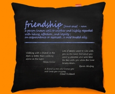 Friendship Definition Funky Sofa Cushion