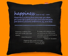 Happiness Definition Funky Sofa Cushion