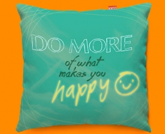 Happy Typography Funky Sofa Cushion
