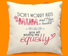 Mum Typography Funky Sofa Cushion