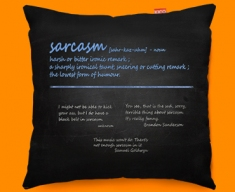 Sarcasm Definition Funky Sofa Cushion