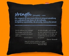 Strength Definition Funky Sofa Cushion