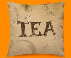 Tea Rings Typography Funky Sofa Cushion