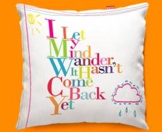 Wander Typography Funky Sofa Cushion