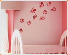 Ladybirds Set Wall Sticker