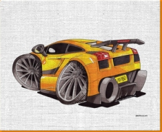 Lamorghini Superleggera Canvas Art Print