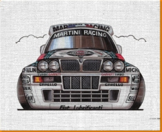 Lancia intergrale Canvas Art Print