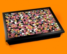 Licorice Allsorts Cushion Lap Tray