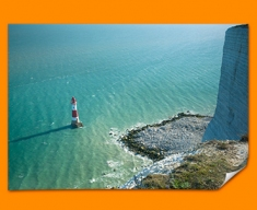 Light House Cliffs Poster