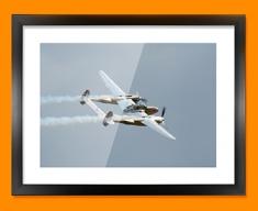 Lightning Lockheed Plane Framed Print