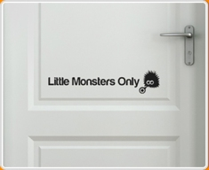 Little Monsters Door Sticker
