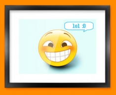 Lol Emoticon Framed Print