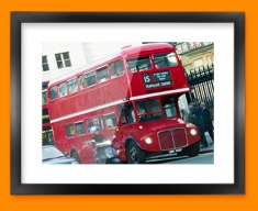 London Bus Framed Print