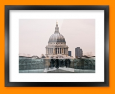 London St Paul Framed Print