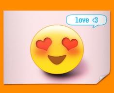 Love Emoticon Poster