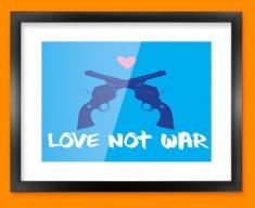 Love Not War Framed Print